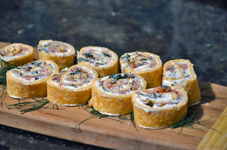 Creamy Smoked Salmon Rolls for Your Next House Party