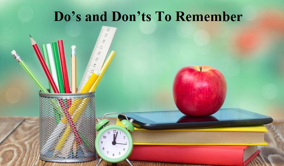 CBSE Board Examination: Do's and Don'ts To Remember